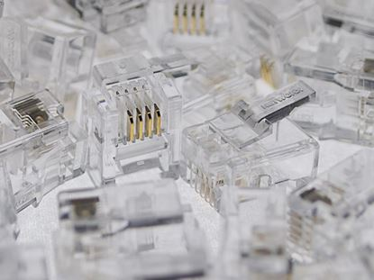Picture of RJ11 6P4C Modular Connector for Round Cable - 100 Pack1