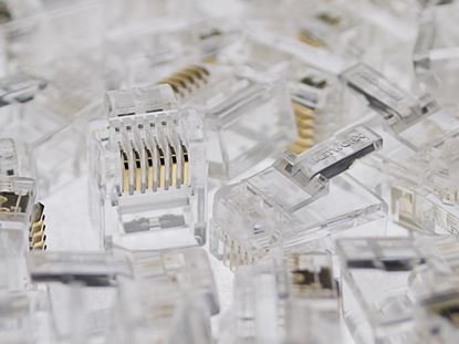 Picture of RJ11/12 6P6C Modular Connector for Round Cable - 100 Pack
