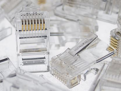 Picture of RJ45 8P8C Modular Connector for Round Cable - 100 Pack