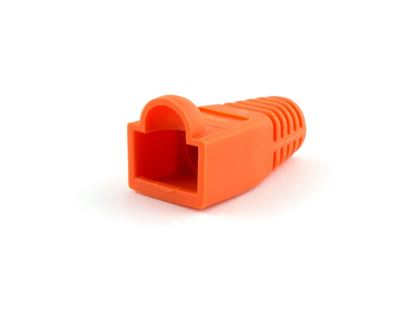 Picture of RJ45 Orange Snagless Boot Protector - 100 Pack