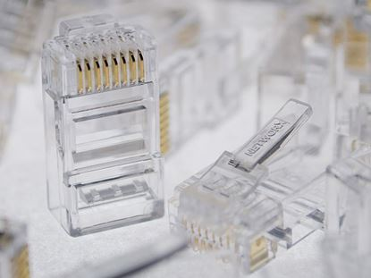 Picture of Networx Cat6 RJ45 Modular Connector with Load Bars - 100 Pack