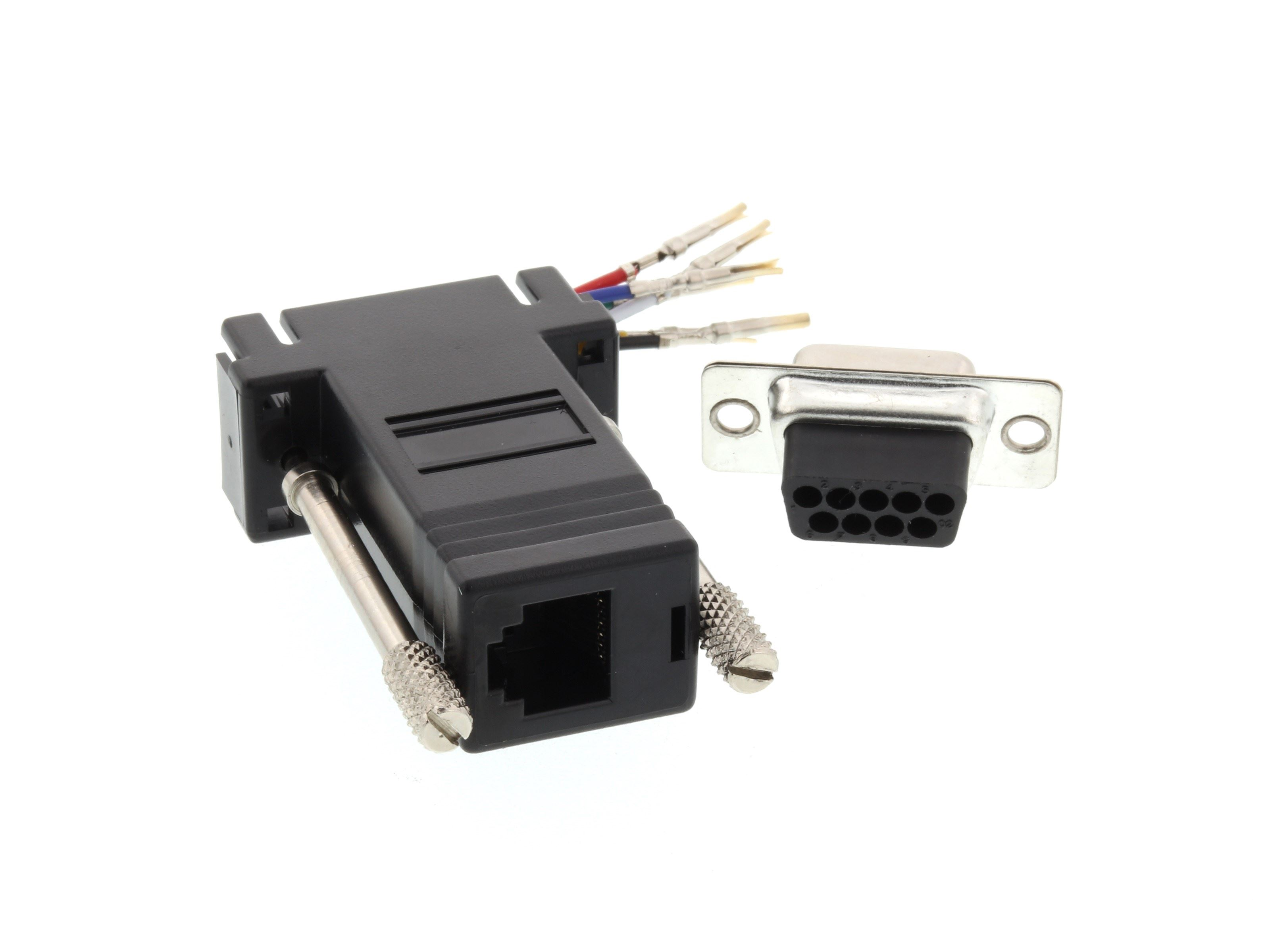 Networx Modular Adapter Kit Db9 Female To Rj11 Rj12