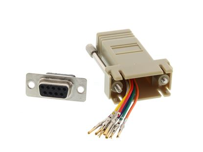 Picture of Modular Adapter Kit - DB9 Female to RJ45 - Beige