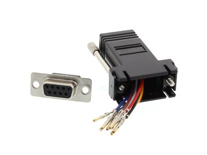 Picture of Modular Adapter Kit - DB9 Female to RJ45 - Black