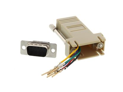 Picture of Modular Adapter Kit - DB9 Male to RJ11 / RJ12 - Beige