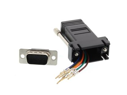 Picture of Modular Adapter Kit - DB9 Male to RJ45 - Black