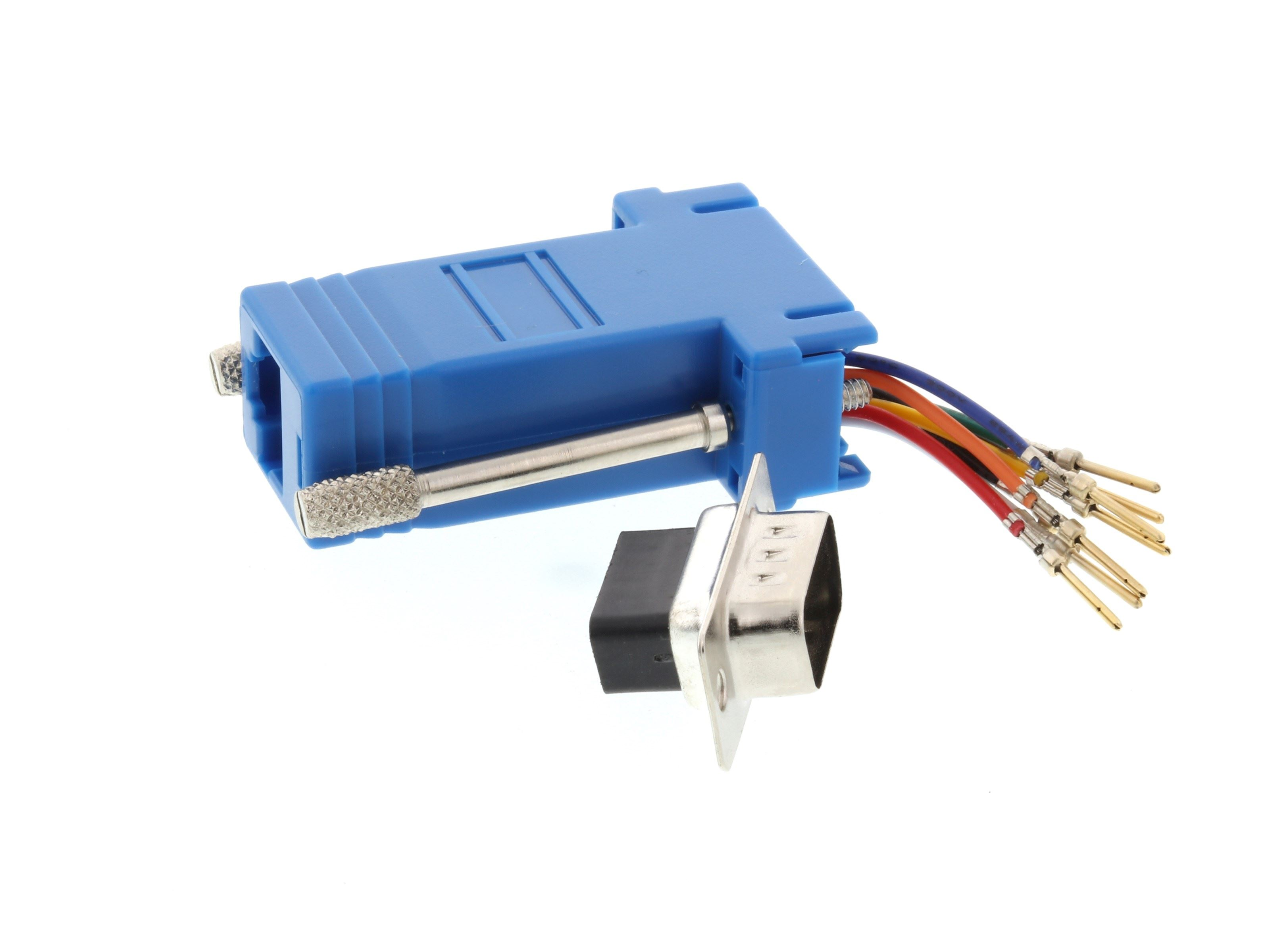Networx Modular Adapter Kit Db9 Male To Rj45 Blue Connector Wiring Picture Of