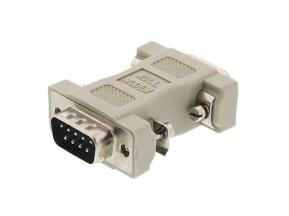 Picture of Null Modem Adapter for Serial Cables - DB9 Male to Male