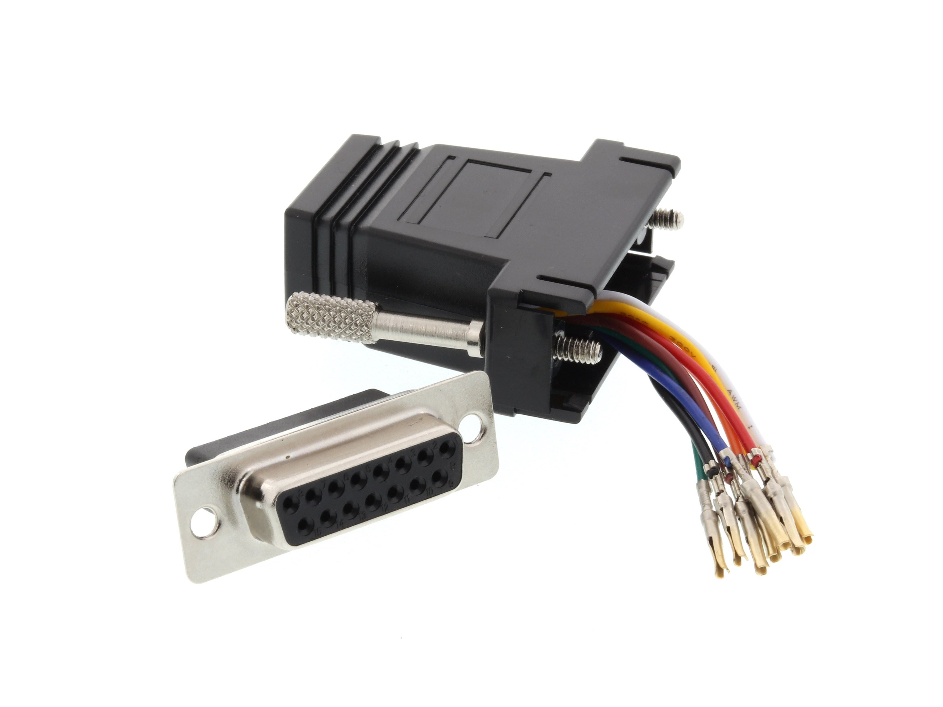 Networx Modular Adapter Kit Db15 Female To Rj45 Black