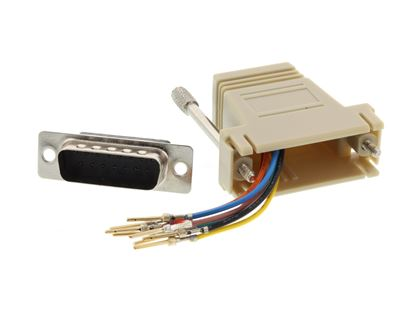 Picture of Modular Adapter Kit - DB15 Male to RJ45 - Beige