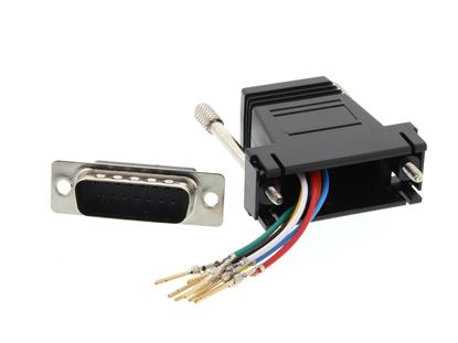 Picture of Modular Adapter Kit - DB15 Male to RJ45 - Black