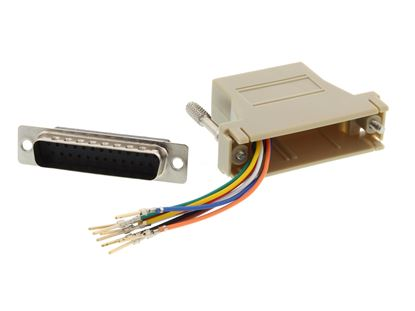 Picture of Modular Adapter Kit - DB25 Male to RJ45 - Beige