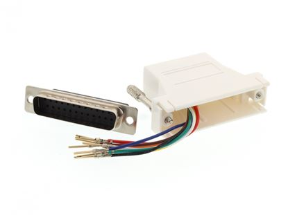 Picture of Modular Adapter Kit - DB25 Male to RJ45 - White