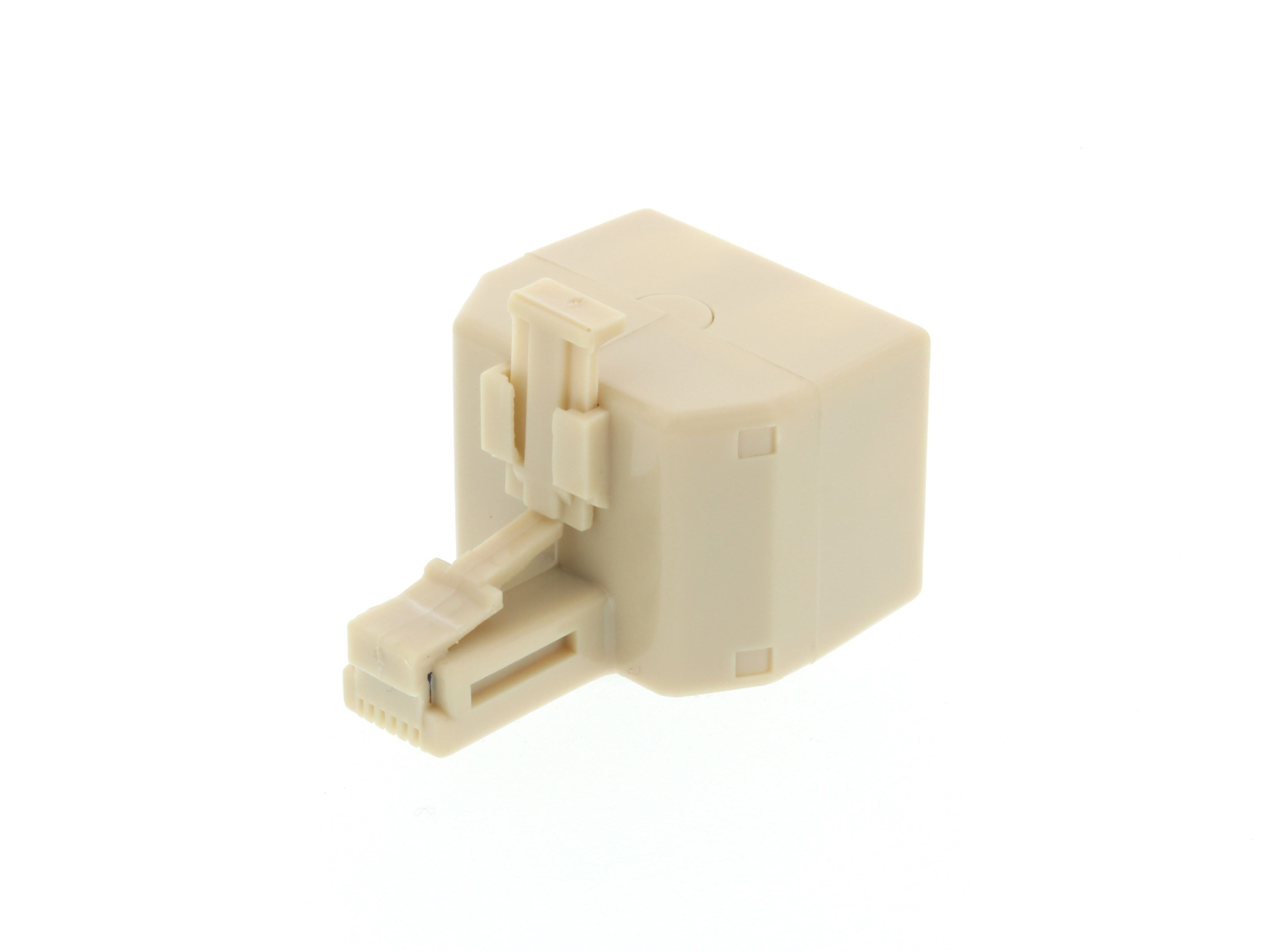 picture of modular voice t adapter - 1 male to 2 female (rj11 - 6p6c