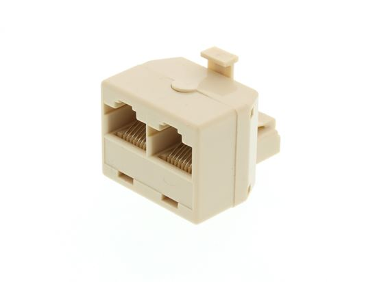 Picture of Modular Voice T Adapter - 1 Male to 2 Female (RJ45 - 8P8C for 8 Wire)