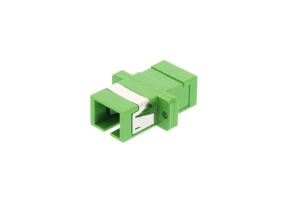 Picture of SC Singlemode Simplex Fiber Adapter - APC (Angled Physical Connector)