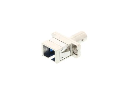 Picture of SC/ST Singlemode Simplex Hybrid Fiber Adapter - PC (Physical Connector)