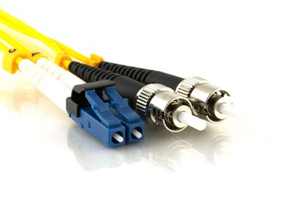 Picture of 10m Singlemode Duplex Fiber Optic Patch Cable (9/125) - Mini LC to ST