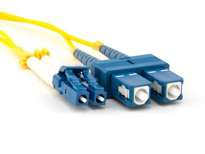 Picture of 10m Singlemode Duplex Fiber Optic Patch Cable (9/125) - LC to SC