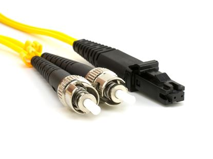 Picture of 10m Singlemode Duplex Fiber Optic Patch Cable (9/125) - MTRJ to ST