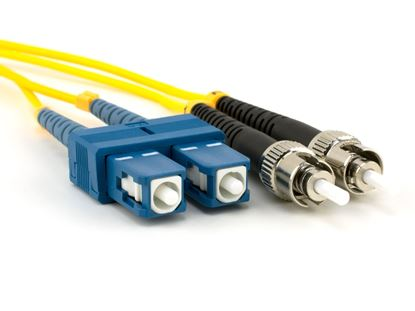 Picture of 10m Singlemode Duplex Fiber Optic Patch Cable (9/125) - SC to ST