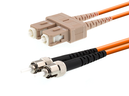 Picture of 10m Multimode Duplex Fiber Optic Patch Cable (50/125) - SC to ST
