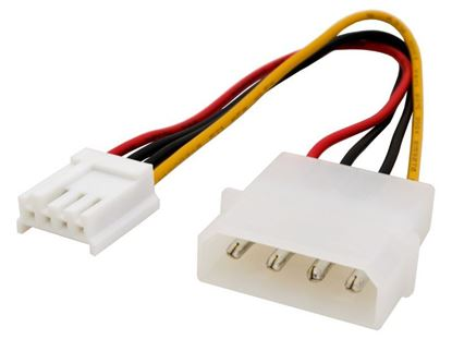 Picture of 6 inch 5.25 Male to 3.5 Female Internal Power Adapter