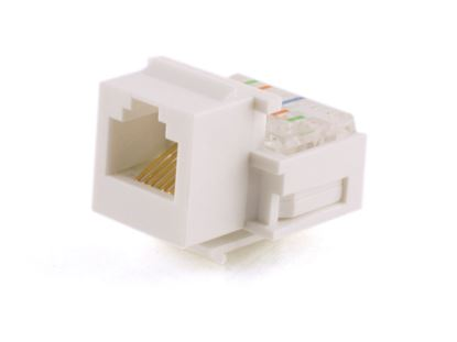 Picture of Voice Keystone Jack - IDC - White