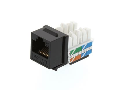 Picture of CAT5e Keystone Jack 90 Degree 110 UTP - Black