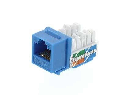 Picture of CAT5e Keystone Jack 90 Degree 110 UTP - Blue