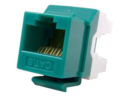 Picture of CAT5e Keystone Jack 180 Degree 110 UTP - Green