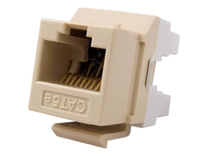 Picture of CAT5e Keystone Jack 180 Degree 110 UTP - Ivory