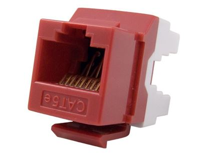 Picture of CAT5e Keystone Jack 180 Degree 110 UTP - Red