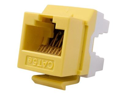 Picture of CAT5e Keystone Jack 180 Degree 110 UTP - Yellow