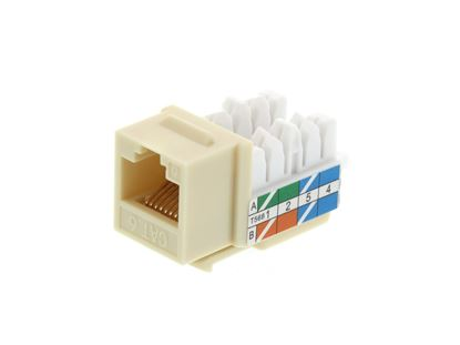 Picture of CAT6 Keystone Jack 90 Degree 110 UTP - Ivory
