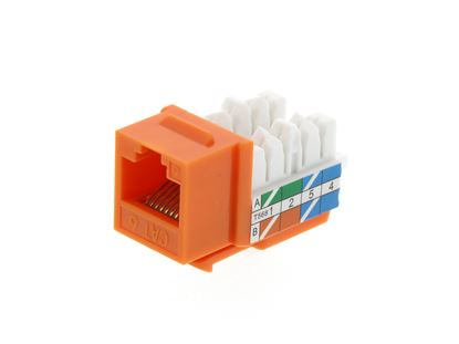 Picture of CAT6 Keystone Jack 90 Degree 110 UTP - Orange
