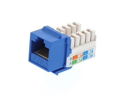 Picture of CAT6 SpeedTerm Keystone Jack 90 Degree 110 UTP - Blue