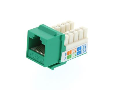 Picture of CAT6 SpeedTerm Keystone Jack 90 Degree 110 UTP - Green