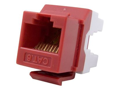 Picture of CAT6 Keystone Jack 180 Degree 110 UTP - Red