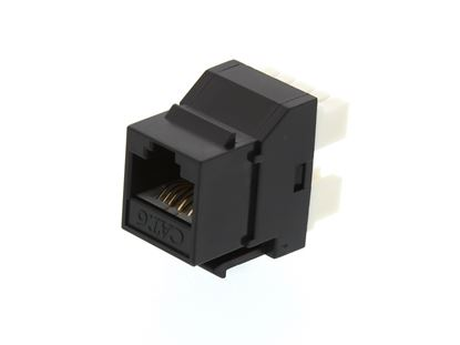 Picture of CAT6 SpeedTerm Keystone Jack 180 Degree 110 UTP - Black