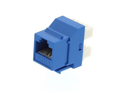 Picture of CAT6 SpeedTerm Keystone Jack 180 Degree 110 UTP - Blue