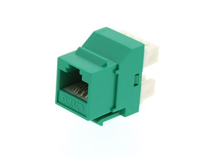 Picture of CAT6 SpeedTerm Keystone Jack 180 Degree 110 UTP - Green