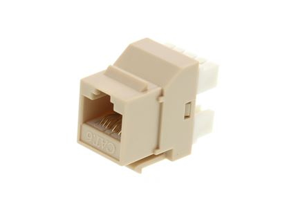 Picture of CAT6 SpeedTerm Keystone Jack 180 Degree 110 UTP - Ivory