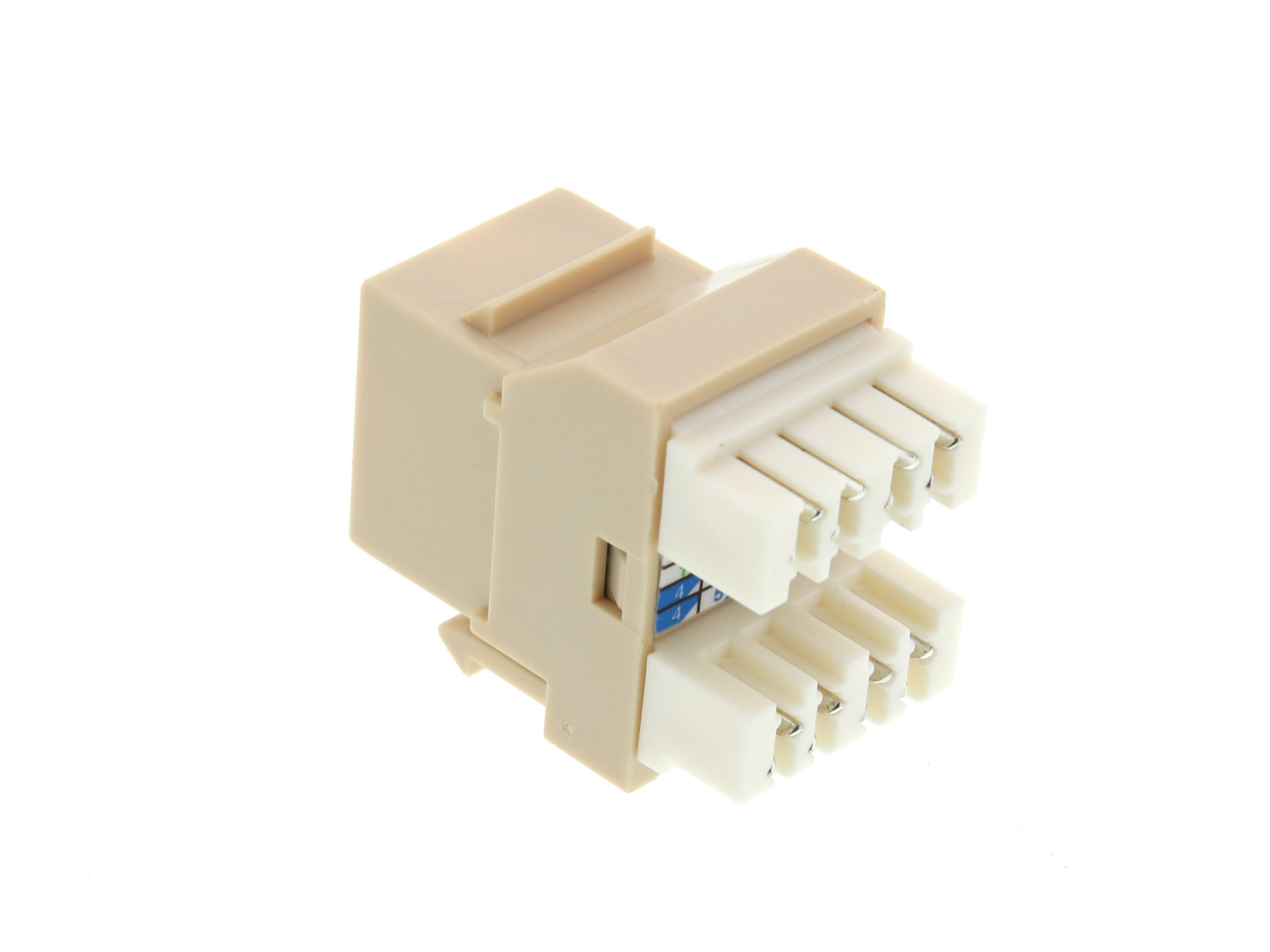 Networx Cat6 Speedterm Keystone Jack 180 Degree 110 Utp Ivory Wiring Picture Of