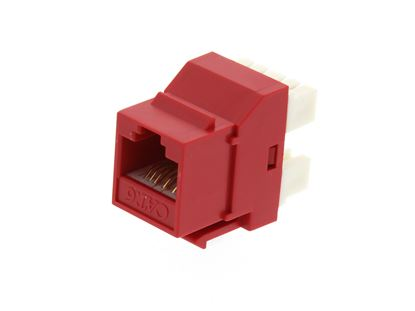 Picture of CAT6 SpeedTerm Keystone Jack 180 Degree 110 UTP - Red