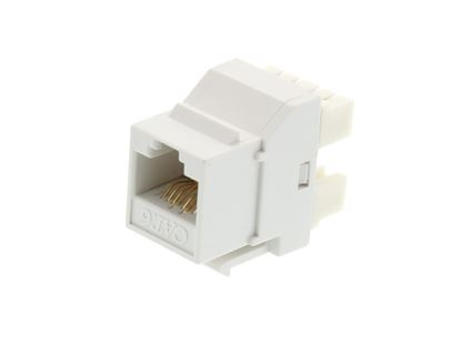Picture of CAT6 SpeedTerm Keystone Jack 180 Degree 110 UTP - White