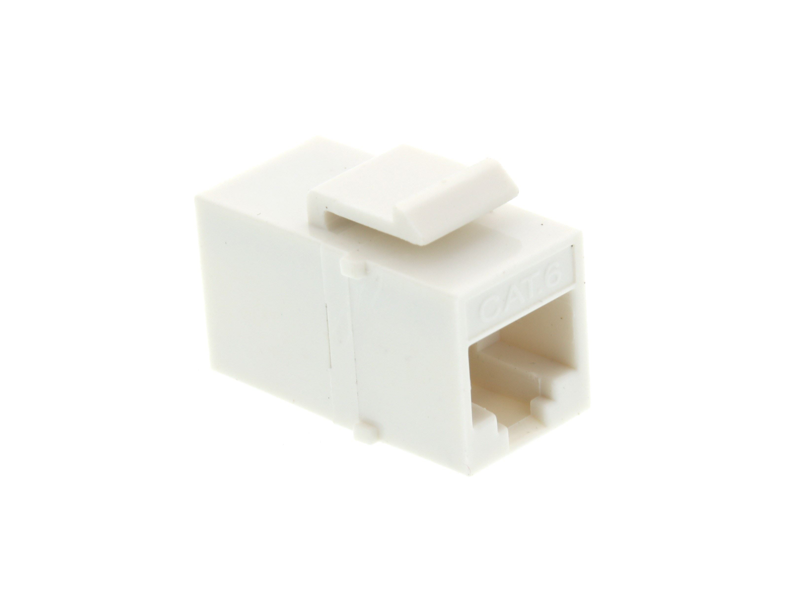 Networx Rj45 Cat6 Keystone Jack Pass Through Panel Mount White Cat 5 Wiring Diagram Wall Prise Picture Of