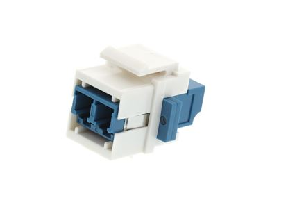 Picture of Fiber Optic Keystone Coupler - LC to LC Singlemode Duplex - White