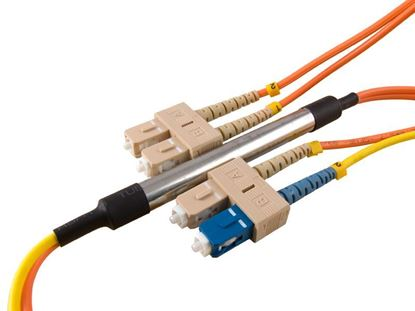 Picture of 1M Mode Conditioning Duplex Fiber Optic Patch Cable (50/125) - SC (equip.) to SC
