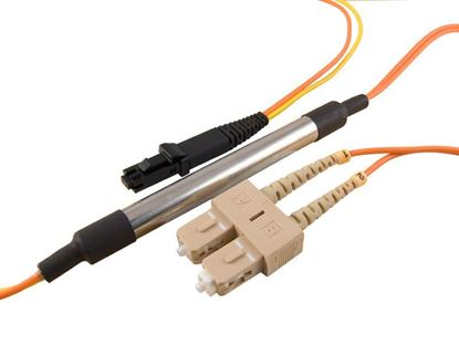 Picture of 1M Mode Conditioning Duplex Fiber Optic Patch Cable (50/125) - SC (equip.) to MTRJ